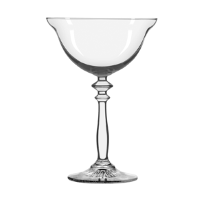 The vintage 1924 coupe glass by Libbey.