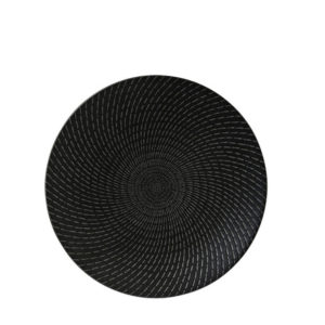 Luzerne's deep plate 235mm in black swirl pattern.