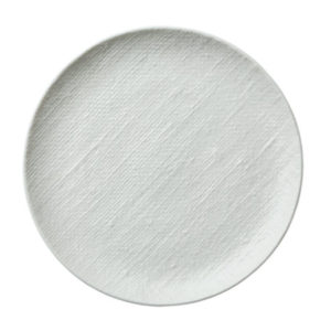 Luzerne's Knit round coupe plate 259mm in white
