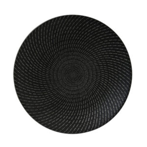 Luzerne's Urban deep plate 310mm in black swirl by Luzerne.