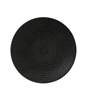 Luzerne's Urban deep plate 275mm in black swirl pattern.