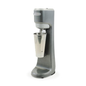 Side view of the Hamilton Beach milkshake mixer with cup.