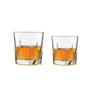2 filled Inverness whiskey tumblers.