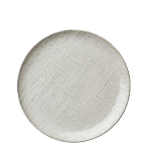Luzerne's Knit round coupe plate 211mm in white.