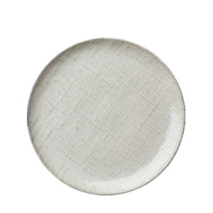 Knit round coupe plate 162mm by Luzerne in white.