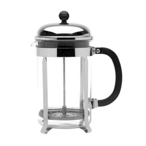 Regent's Chrome and pyrex coffee plunger.