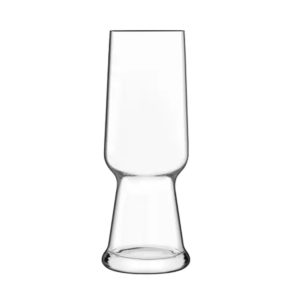The Birrateque pilsner glass by Luigi Bormioli.