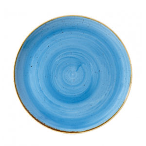 Churchill's Stonecast coupe plate 288mm in blue.