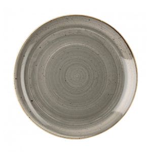 Churchill's Stonecast coupe plate 288mm in grey.