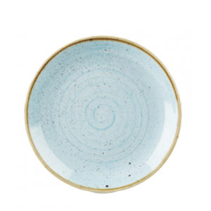 Churchill's Stonecast coupe plate 260mm in duck blue.