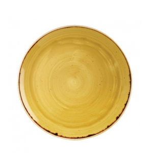 Churchill's Stonecast coupe plate 260mm in yellow