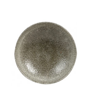 Churchill's Raku coupe plate 165mm in grey.