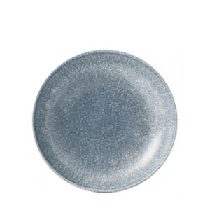Churchill's Raku coupe plate 165mm in Topaz blue.