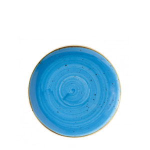 Churchill's Stonecast coupe plate 217mm in blue.