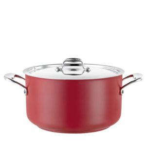 A casserole pot 14L in red.