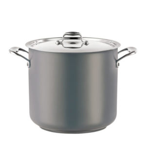 A stock pot in grey.