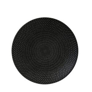 Luzerne's Urban deep plate 190mm in black swirl pattern.