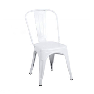 White tolix chair.