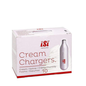 10 piece cream charger bombs in box.