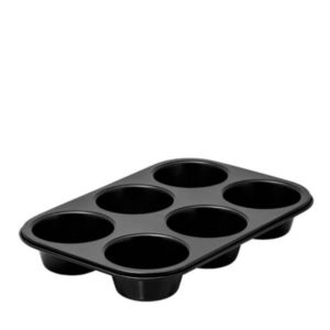 A 6 cup muffin tray.
