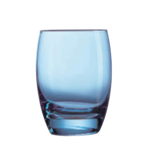 The Endessa blue whiskey glass by Libbey.