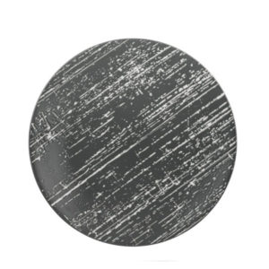 The Drizzle grey round plate by Luzerne.