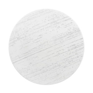 The Drizzle white round plate by Luzerne.