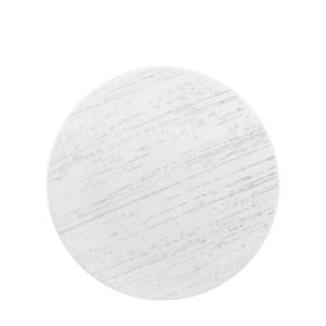 Luzerne Drizzle white round side plate.