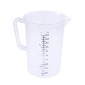 A 1 litre measuring jug.