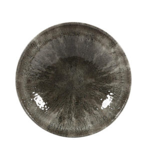 The Stone quartz black coupe plate 260mm by Churchill.