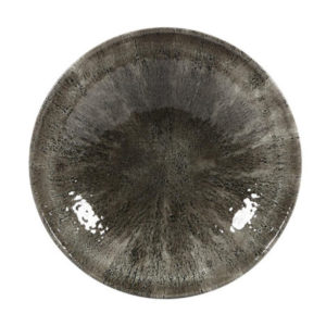 The Stone quartz black coupe plate 288mm by Churchill.