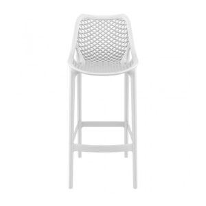 A white grid bar stool.