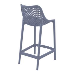 A grid bar stool in dark grey.