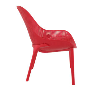A red sky lounge chair.