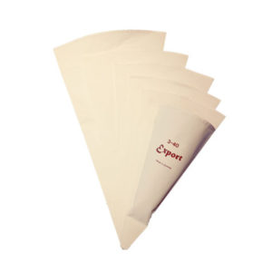 A set of reusable piping bags.