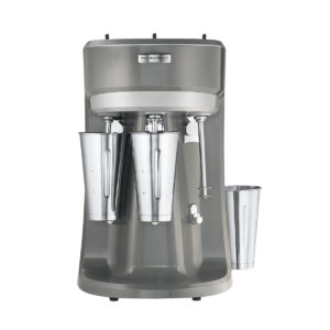 Hamilton Beach's triple milkshake mixer with removable cups.
