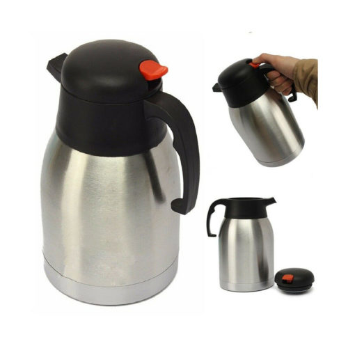 A straight vacuum flask in use