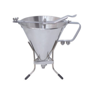 A pro stainless steel decanting funnel by De Buyer.
