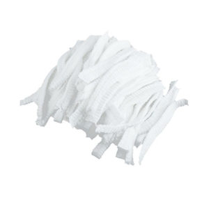 A pile of elastic bands used for the mop cap.