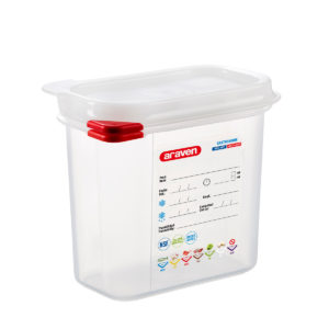 A GN 1/9 airtight container by Araven.