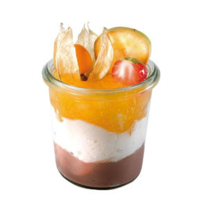 0.14 Litre Weck glass with food product by APS.