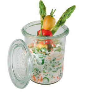 0.16 Litre Weck glass with food product by APS.