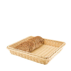 APS's poly rattan woven GN basket with bread.