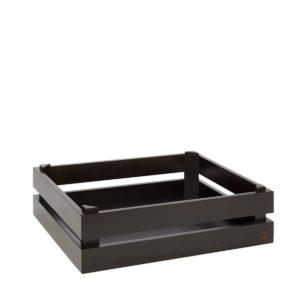 APS's dark wooden reversible box 35cm.