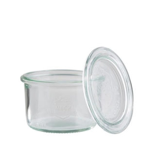 Weck 0.8litre glass jar with lid by APS.