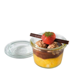 0.2 Litre glass jar with lid and product by APS.