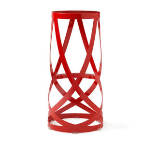 A ribbon bar stool in red.