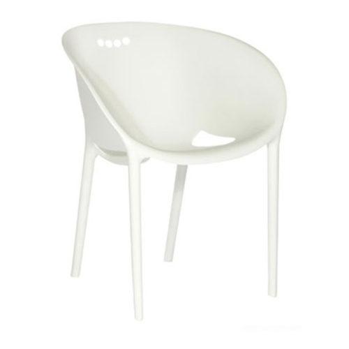 A soft tub chair in white.