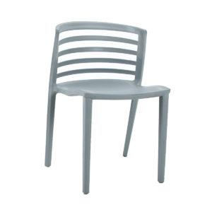 A nilkamal chair in soft grey.