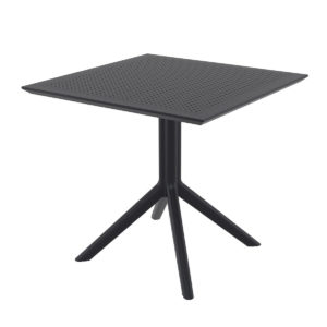 The Sky dining table in black.